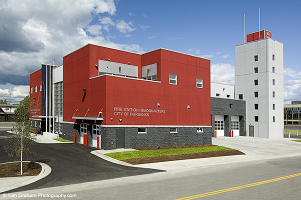 Fairbanks fire station headquarters design build rsa